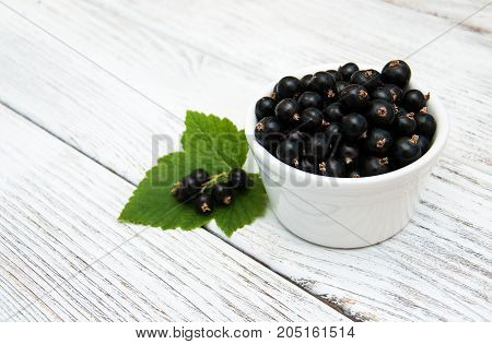 Bowl With Blackcurrants