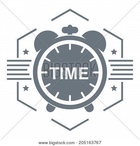 Alarm clock logo. Simple illustration of alarm clock vector logo for web