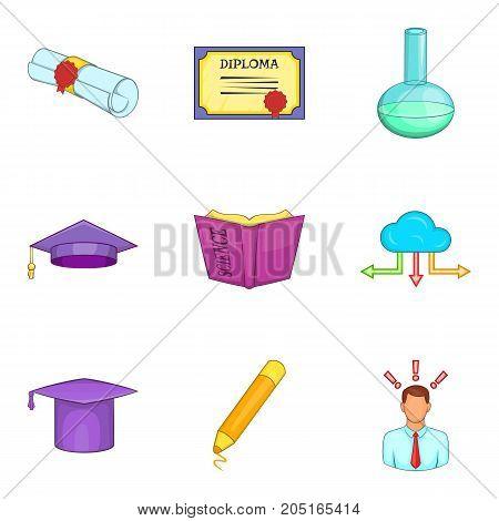 Shrewd icons set. Cartoon set of 9 shrewd vector icons for web isolated on white background