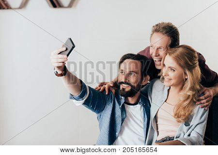 Friends Using Smartphone