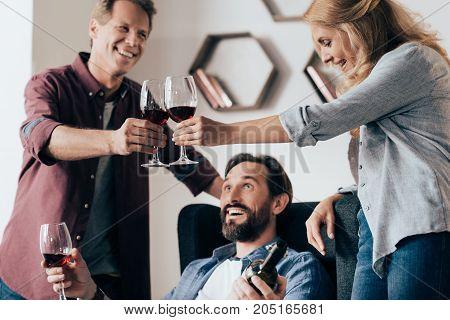 Friends Drinking Wine