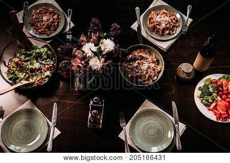 Table Served For Dinner