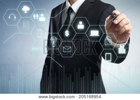 Businessman draw