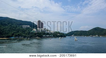Beautiful Repulse Bay landscape in Hong Kong