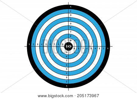 Target shooting in blue and black colors