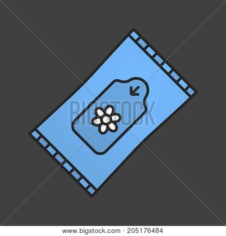 Wet wipes color icon. Tissues. Isolated vector illustration