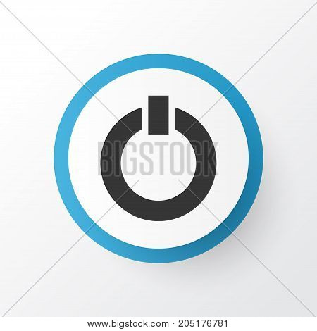 Premium Quality Isolated Power Element In Trendy Style.  Start Icon Symbol.