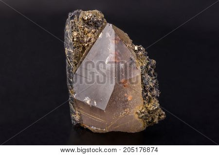 Mineral rock crystal kind of colourless quartz