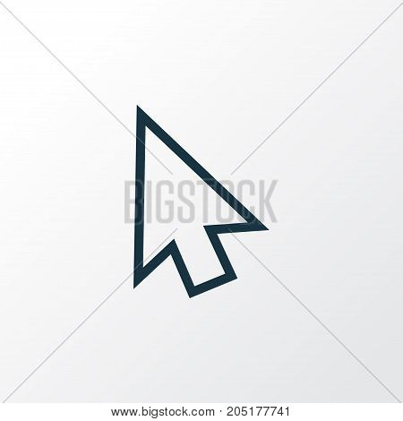 Premium Quality Isolated Cursor Element In Trendy Style.  Arrow Outline Symbol.