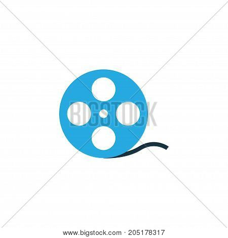 Premium Quality Isolated Filmstrip Element In Trendy Style.  Film Reel Colorful Icon Symbol.