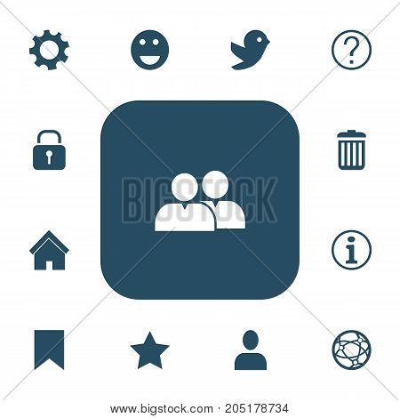 Set Of 13 Editable Network Icons. Includes Symbols Such As Quiz, Recycle Bin, Faq And More