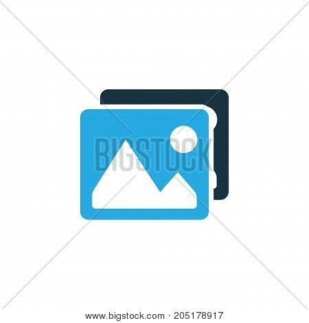 Premium Quality Isolated Gallery Element In Trendy Style.  Picture Colorful Icon Symbol.