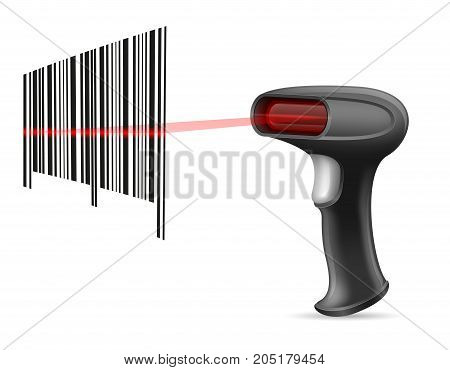 barcode scanner stock vector illustration isolated on white background