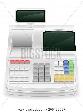 cash register stock vector illustration isolated on white background