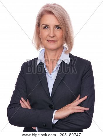 Confident Beautiful Middle Aged Business Woman