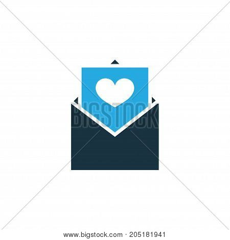 Premium Quality Isolated Envelope Element In Trendy Style.  Postcard Colorful Icon Symbol.