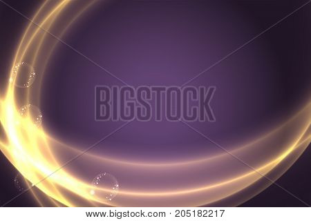 Glowing light, abstract background with space for text. Illustration vector