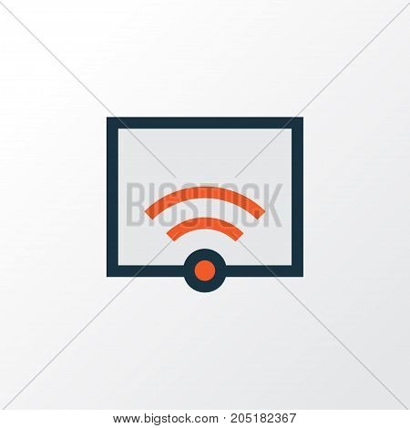 Premium Quality Isolated Signal Element In Trendy Style.  Wifi Colorful Outline Symbol.