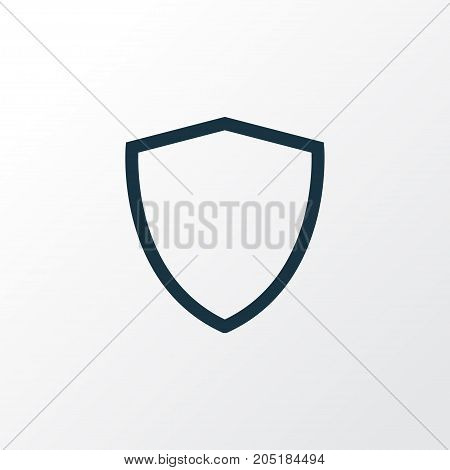 Premium Quality Isolated Protect Element In Trendy Style.  Shield Outline Symbol.