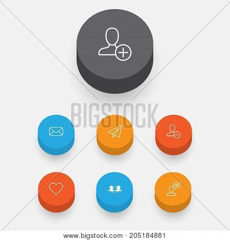 Communication Icons Set. Collection Of Follow, Connect, Startup And Other Elements