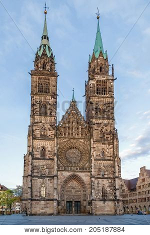 St. Lorenz is a medieval church in Nuremberg Germany. It is dedicated to Saint Lawrence. Facade