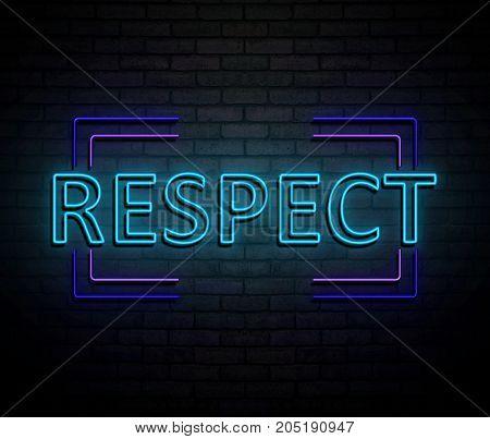 Neon Respect Concept.
