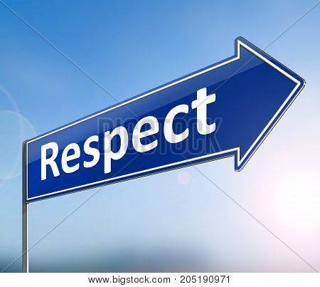 Respect Sign Concept.