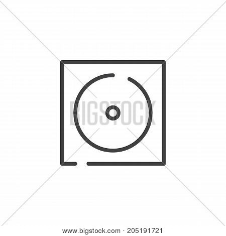 Tumble dryer line icon, outline vector sign, linear style pictogram isolated on white. Symbol, logo illustration. Editable stroke