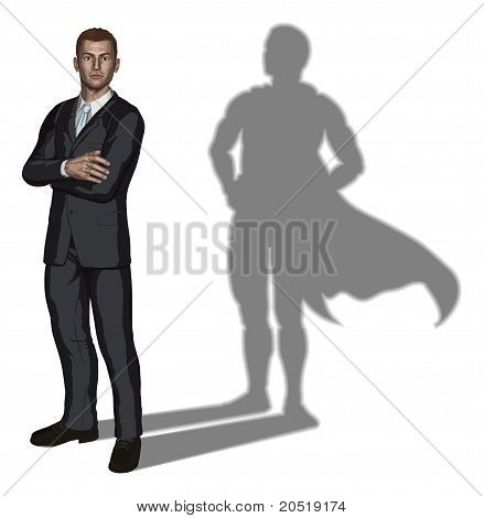 Businessman Superhero Concept