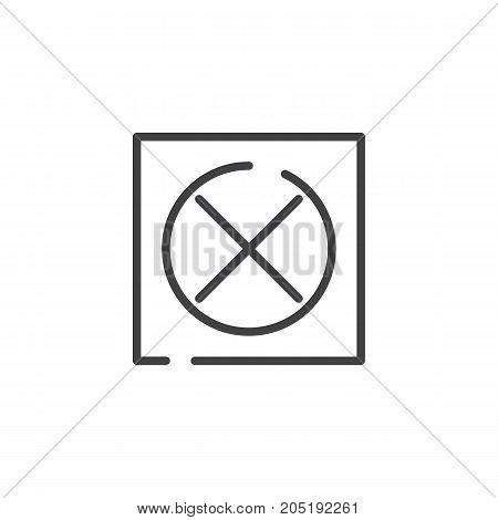 Do not tumble dry line icon, outline vector sign, linear style pictogram isolated on white. Symbol, logo illustration. Editable stroke
