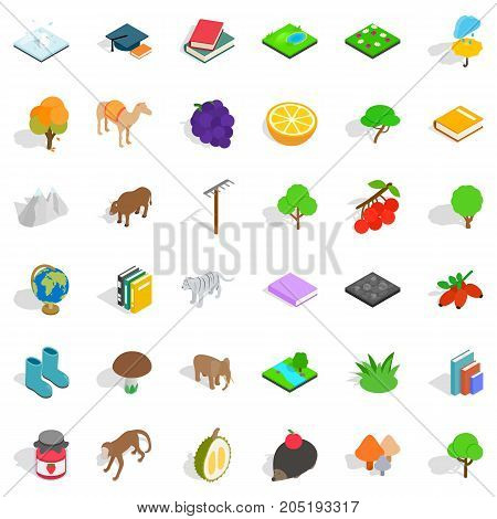 Camel icons set. Isometric style of 36 camel vector icons for web isolated on white background