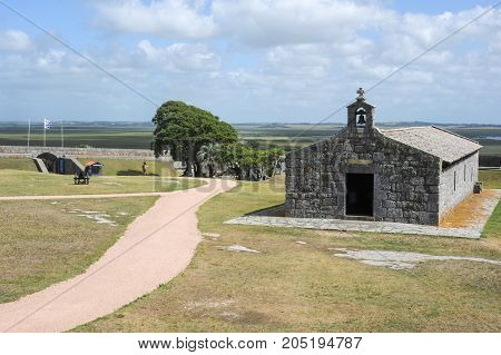 Historical Santa Teresa Fort on Uruguay. Near the Brazilian border of Chui the fort was started by the Portuguese & finished by the Spanish in the context of Uruguay wars spreading along 3 centuries.