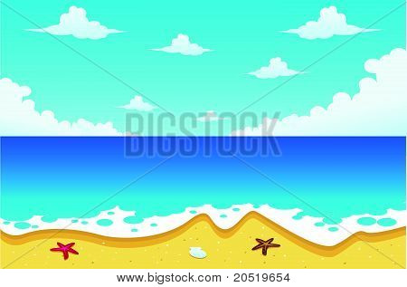 Beach Illustration Vector