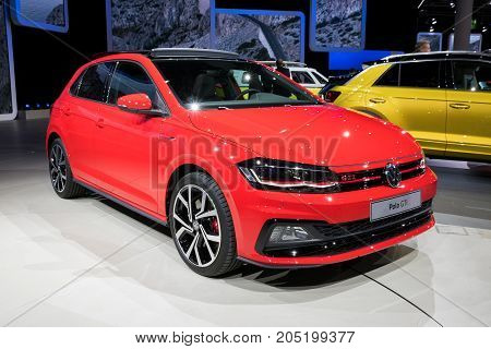 Red 2018 Vw Polo Gti Car