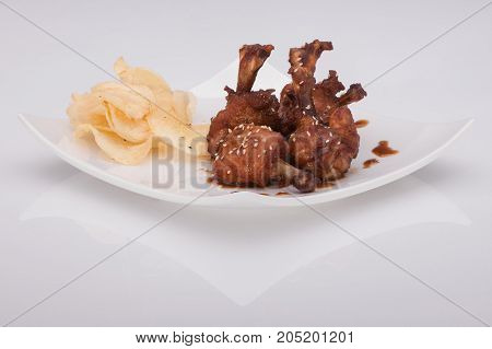 Grilled Meat On A Plate