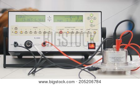 Industrial equipment - system management panel, close up
