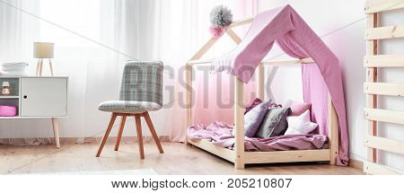 Chair Standing In Girl's Bedroom