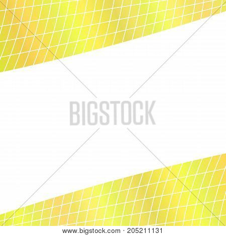 Abstract grid background - yellow  illustration from curved angular lines on white background