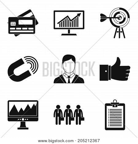 Greed icons set. Simple set of 9 greed vector icons for web isolated on white background