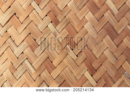 Handcraft bamboo basket weave texture and background