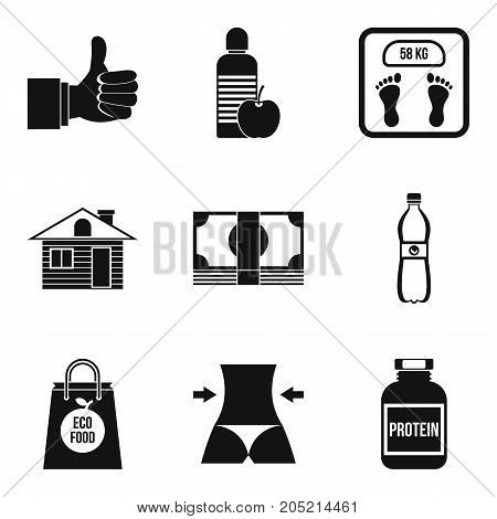 Special diet icons set. Simple set of 9 special diet vector icons for web isolated on white background