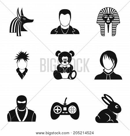 Dissembler icons set. Simple set of 9 dissembler vector icons for web isolated on white background