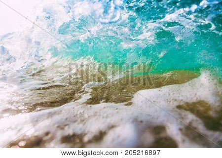 Wave in ocean. Turquoise water in Bali, Dreamland