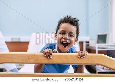 African American Boy In Hospital