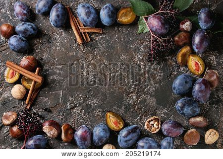 Plums And Walnuts