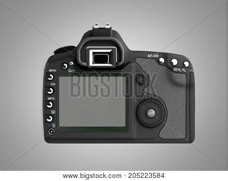 Photo Camera 3D Render On Grey Background