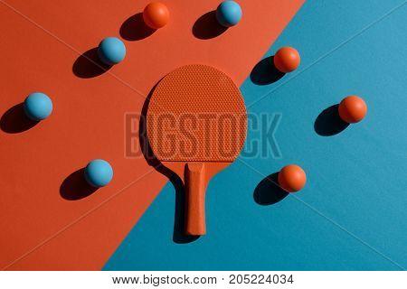 Ping Pong Racket And Balls