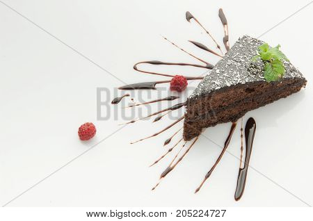 Cake On A White Background