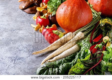 Variety Of Autumn Harvest Vegetables