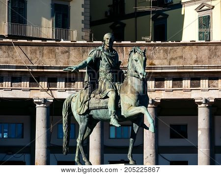 Statue of Charles III of Spain, Piazza del Plebiscito Naples, Italy